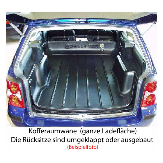 kofferraumwanne carbox vw caddy pick up laderaumwanne. Black Bedroom Furniture Sets. Home Design Ideas